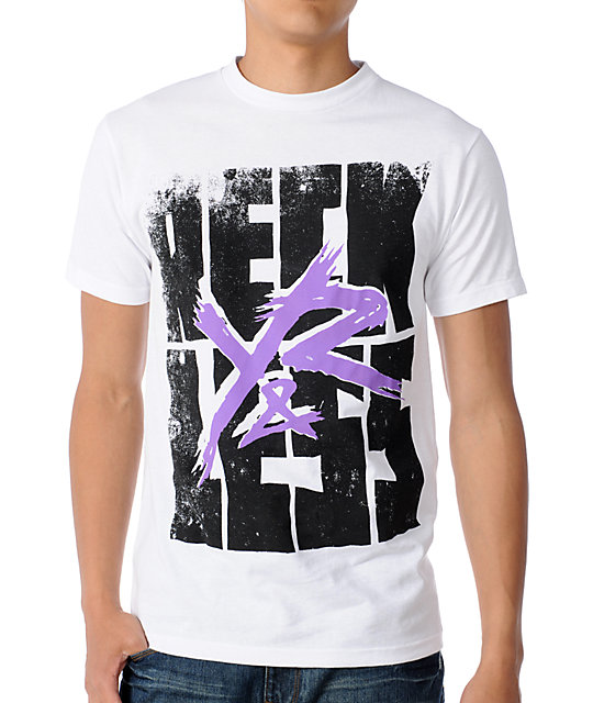 Young & Reckless Reckless Stacked White T-Shirt