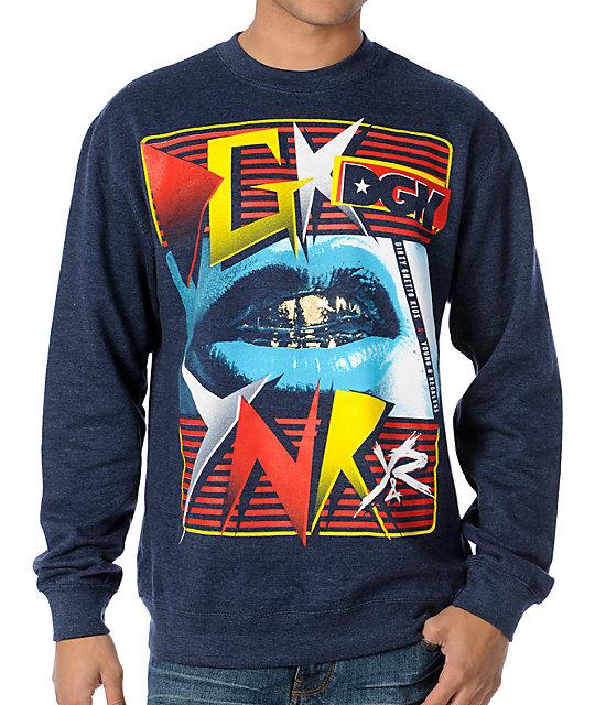 Young & Reckless x DGK Navy Crew Neck Sweatshirt