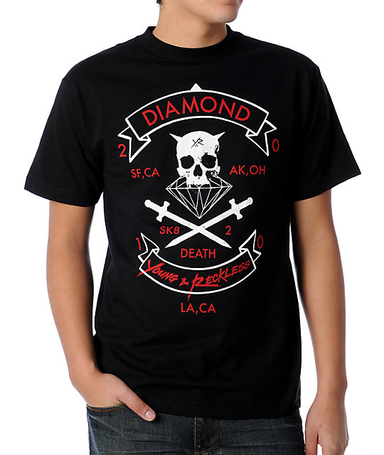 Young & Reckless x Diamond Black T-Shirt
