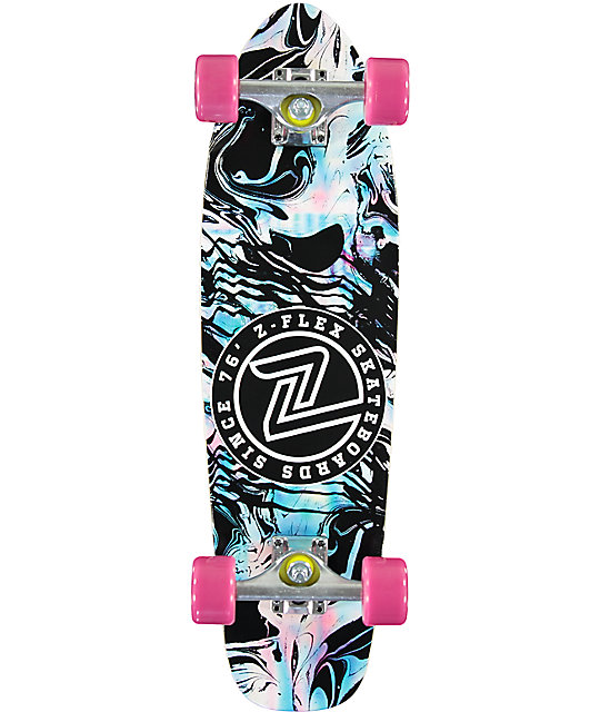 "Z-Flex Acid Swirl Black 27.5""  Cruiser Complete Skateboard"