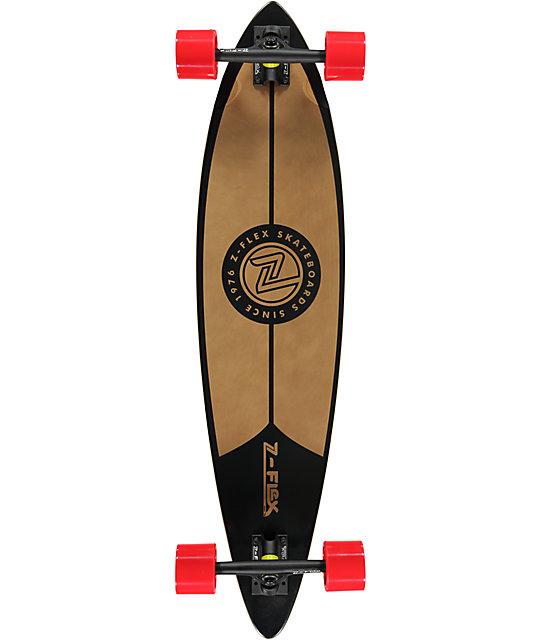 """Z-Flex Black Pintail 38""""  Longboard Complete"""
