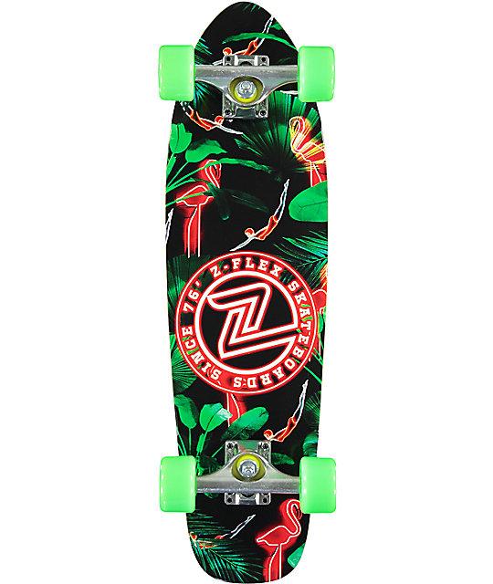 "Z-Flex Neon Flamingo 27.5""  Cruiser Complete Skateboard"
