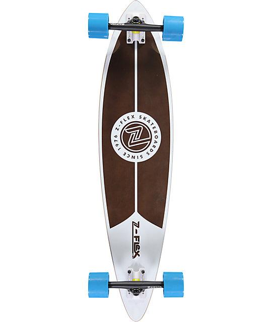 "Z-Flex White Pintail 38""  Longboard Complete"