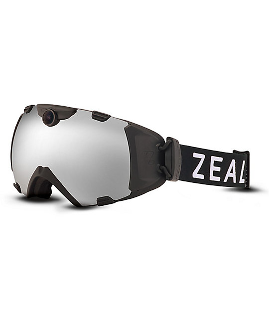Zeal HD Camera 2014 Black & Metal Mirror Snowboard Goggles