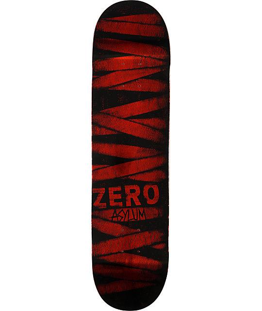 "Zero Asylum Red Foil 7.75""  Skateboard Deck"