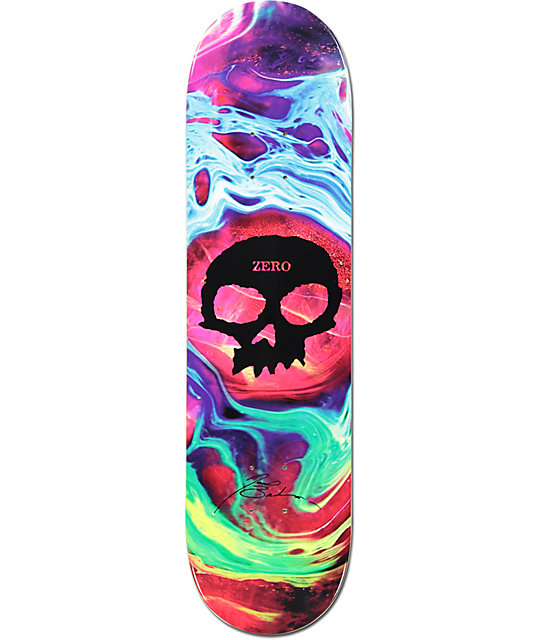 "Zero Brockman Tempest Skull 8.25""  Impact Light Skateboard Deck"