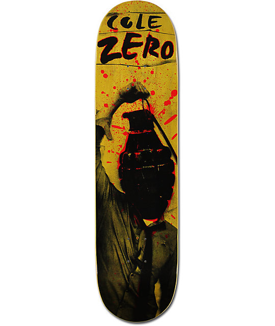 "Zero Cole Attak 7.875""  Skateboard Deck"
