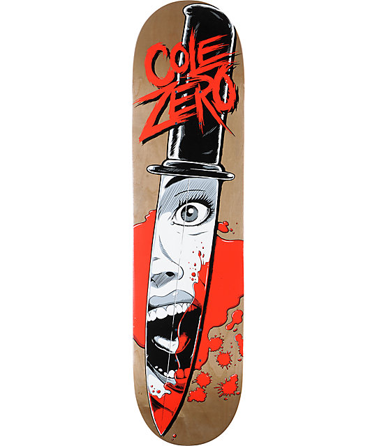 "Zero Cole Knife 7.75""  Skateboard Deck"