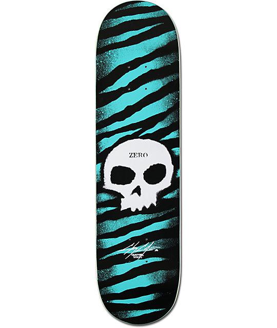 """Zero Cole Skull Stencil 8.12""""  Skateboard Deck"""