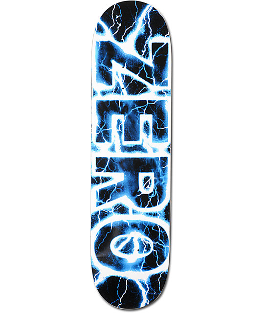 "Zero Lightning Blue 8.0""  Team Skateboard Deck"