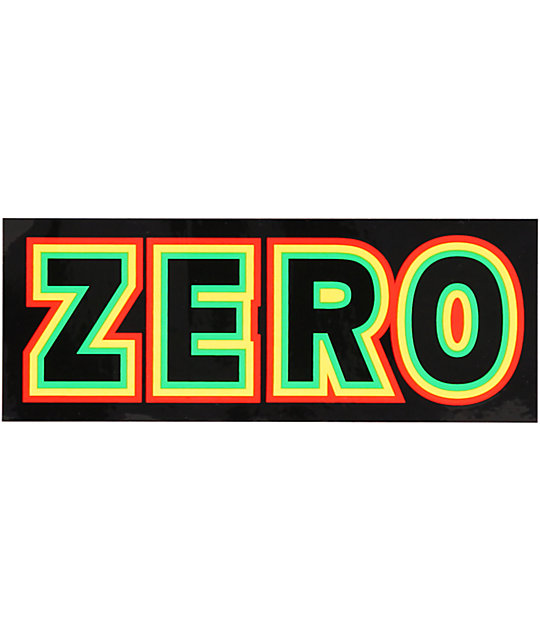 Zero Rasta Bold Sticker
