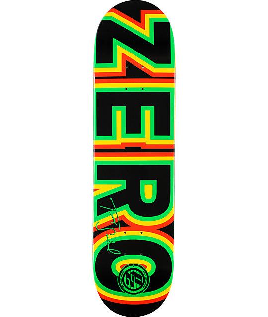 """Zero Sandoval Bold P2 Rasta 8.0""""  Skateboard Deck"""