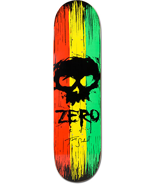 zero sandoval war paint 8 0 skateboard deck