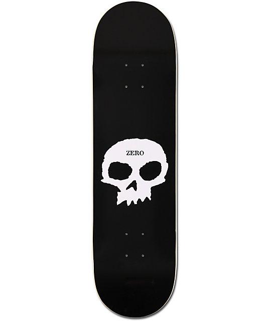 """Zero Single Skull Black 8.4""""  Skateboard Deck"""