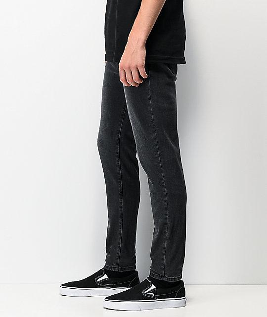Ajustados Ziggy Crop Negra De Gravel Pipes Jeans Mezclilla kZOiuPXT