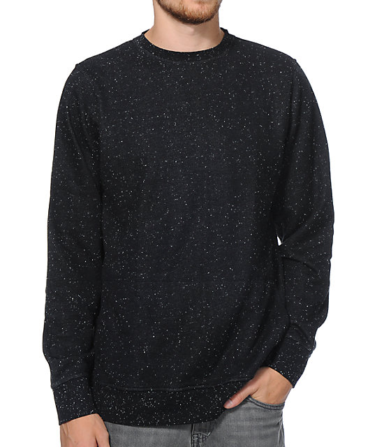 Zine 2 Live Black Speckle Crew Neck Sweatshirt