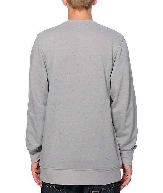 Zine 2 Live Grey Speckle Crew Neck Sweatshirt