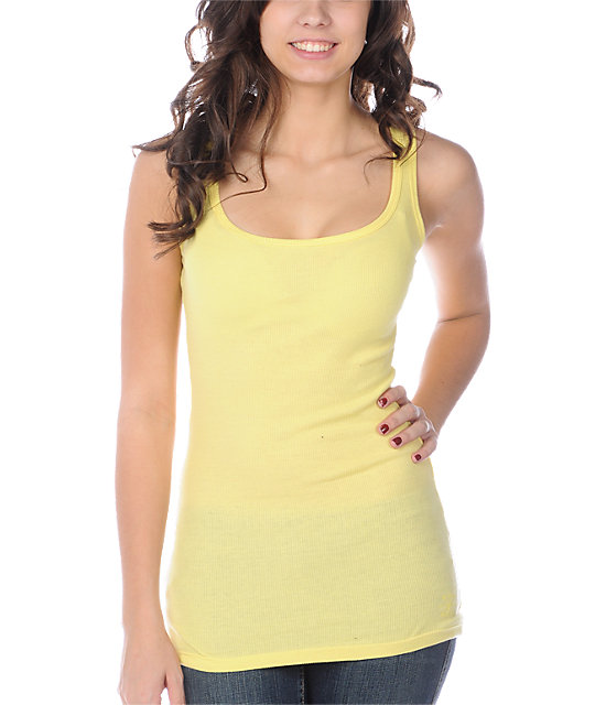Zine 2X2 Rib Yellow Tank Top
