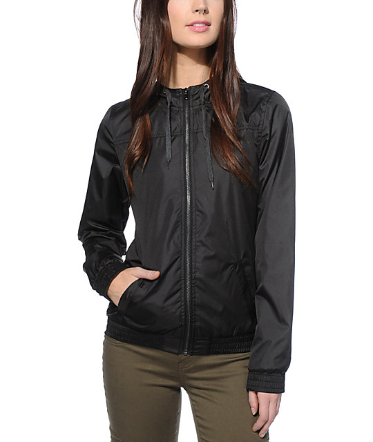 Zine Ali Black Lined Windbreaker Jacket at Zumiez : PDP