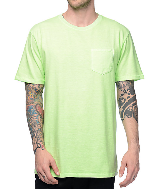 Zine Alta Green Pigment Dye Pocket T-Shirt