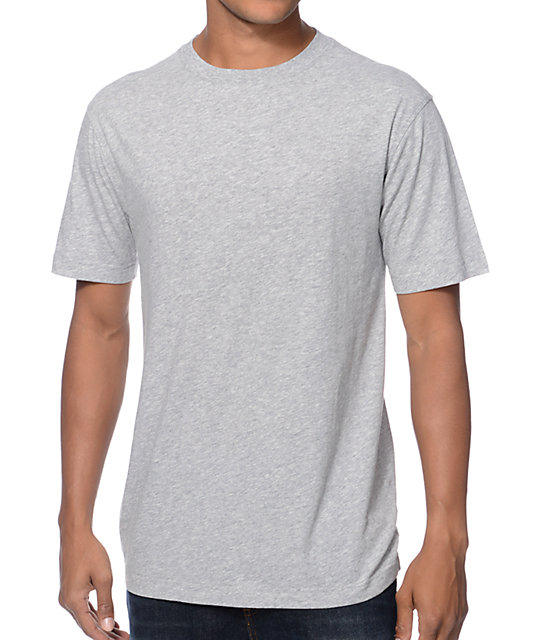 Zine Baseline Grey Crew Neck T-Shirt