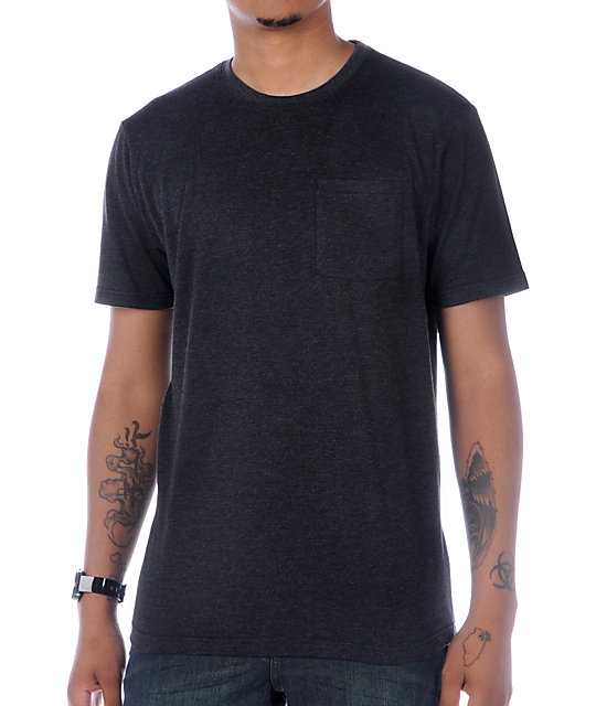 Zine Baseline Heather Black T-Shirt