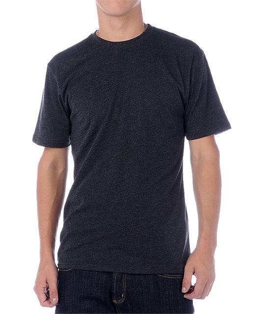 Zine Baseline Solid Charcoal T-Shirt