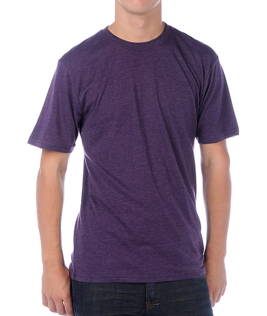 Zine Baseline Solid Purple T-Shirt