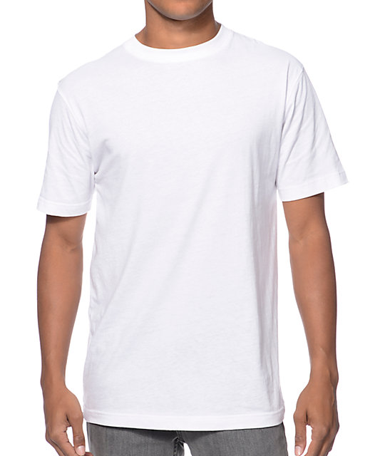 Zine baseline white crew neck t shirt zumiez for Crew neck white t shirt