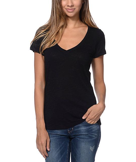 Zine Black Beta V-Neck T-Shirt