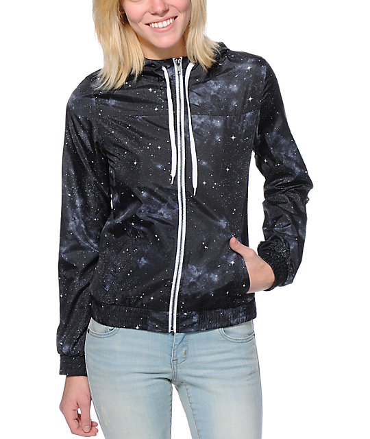 Zine Black Celestial Windbreaker Jacket