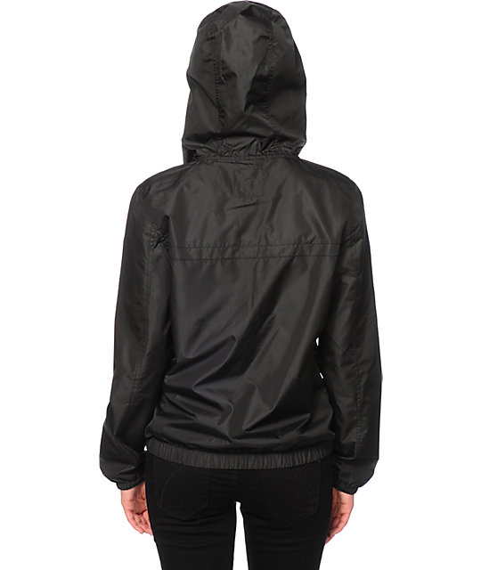 Zine Black Pullover Windbreaker Jacket | Zumiez