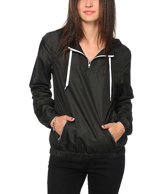 Zine Black Pullover Windbreaker Jacket at Zumiez : PDP