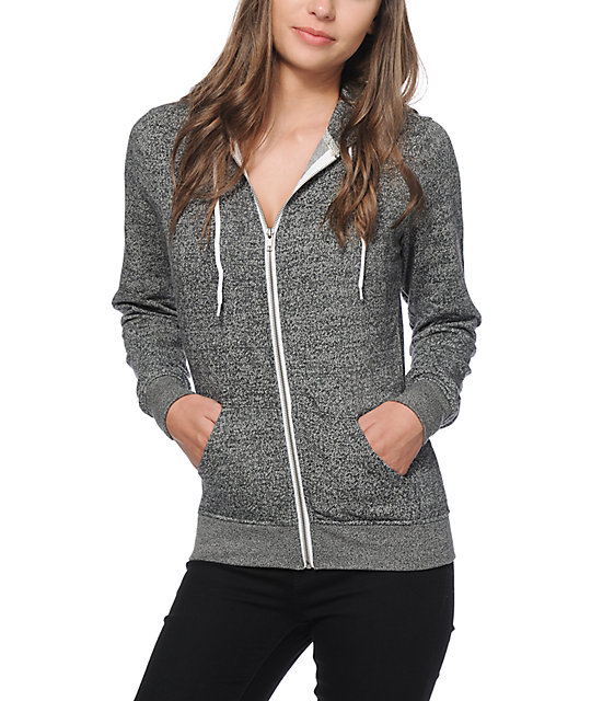 Zine Black Salt & Pepper Zip Up Hoodie at Zumiez : PDP