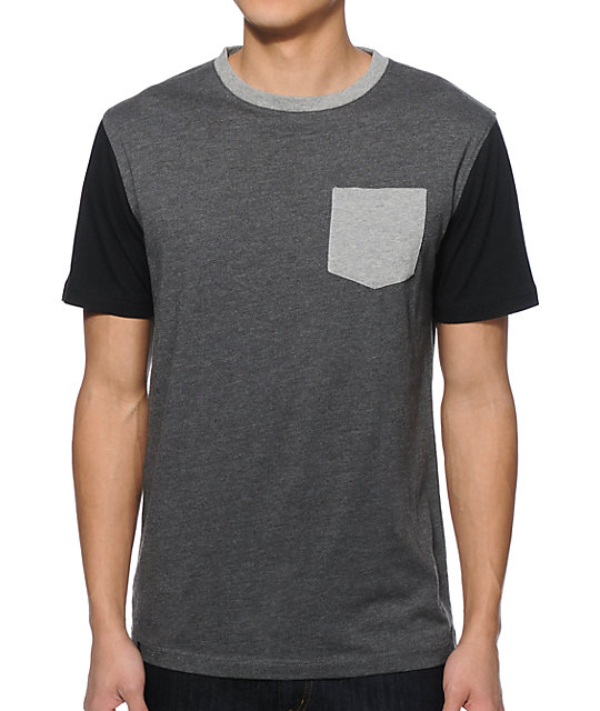 Zine Block Head 3 Tone Pocket T Shirt
