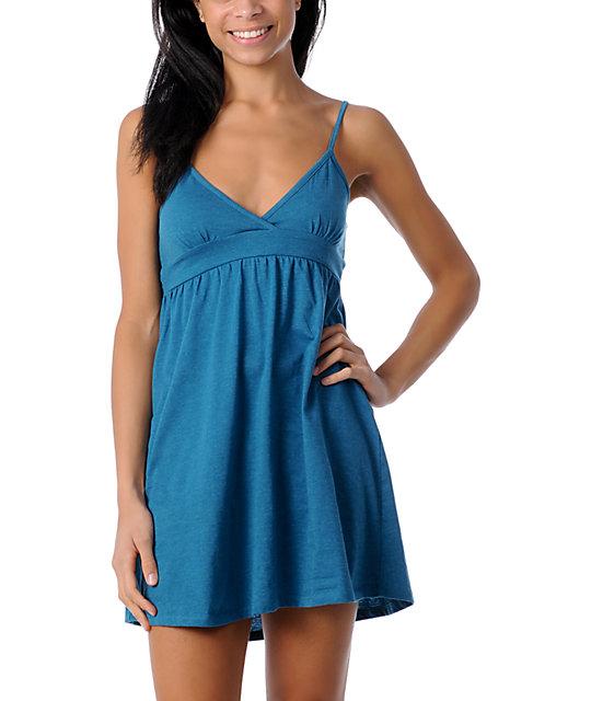 Zine Blue Tank Top  Dress Cover Up