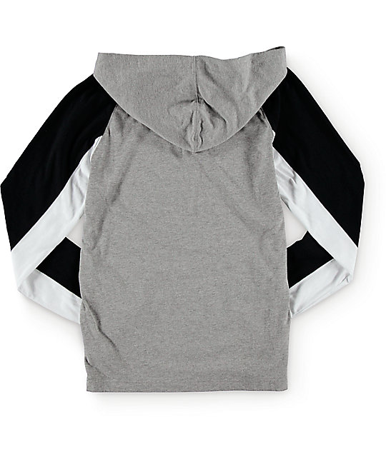 Zine Boys Down Low Hooded Henley Shirt