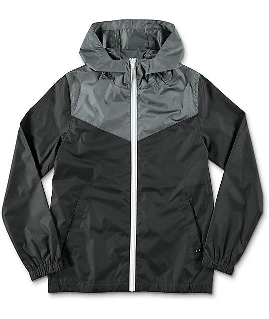 Zine Boys Sprint Black & Charcoal Windbreaker Jacket at Zumiez : PDP