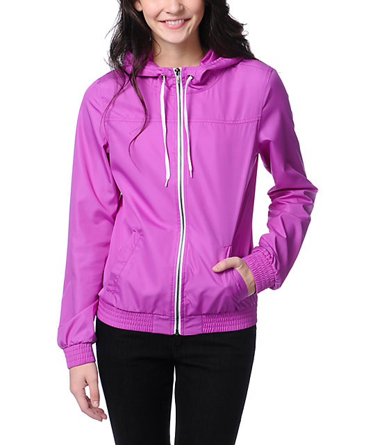 Zine Bright Purple Windbreaker Jacket
