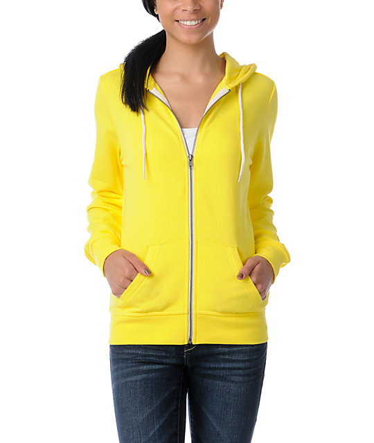 Zine Buttercup Yellow Zip Up Hoodie