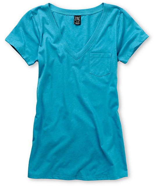 Zine Carribean Sea V-Neck T-Shirt