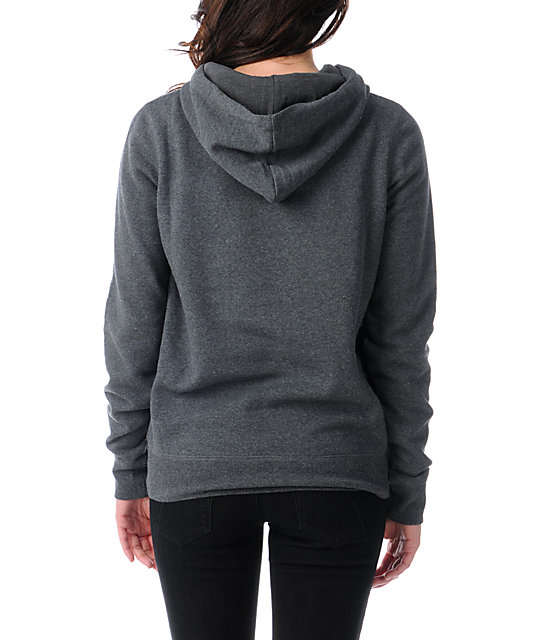 Zine Charcoal Grey Pullover Hoodie