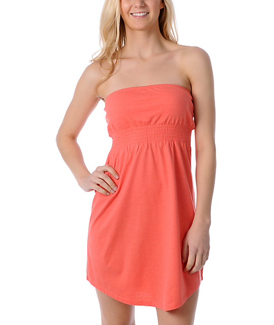 Zine Coral Dubarry Tube Cover Up Dress