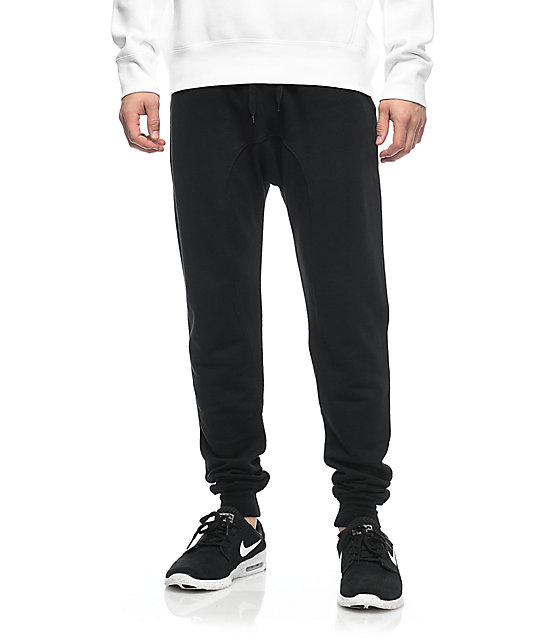 Book Cover Black Jeans : Zine cover black solid knit jogger pants at zumiez pdp