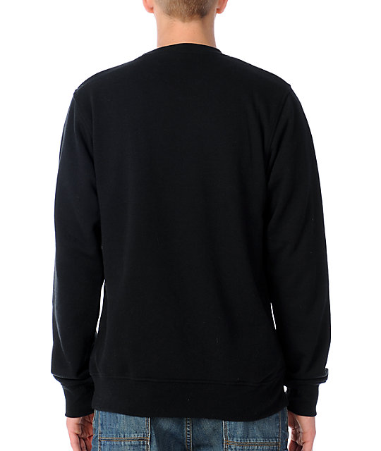 Zine Cruiser Black Crew Neck Sweatshirt