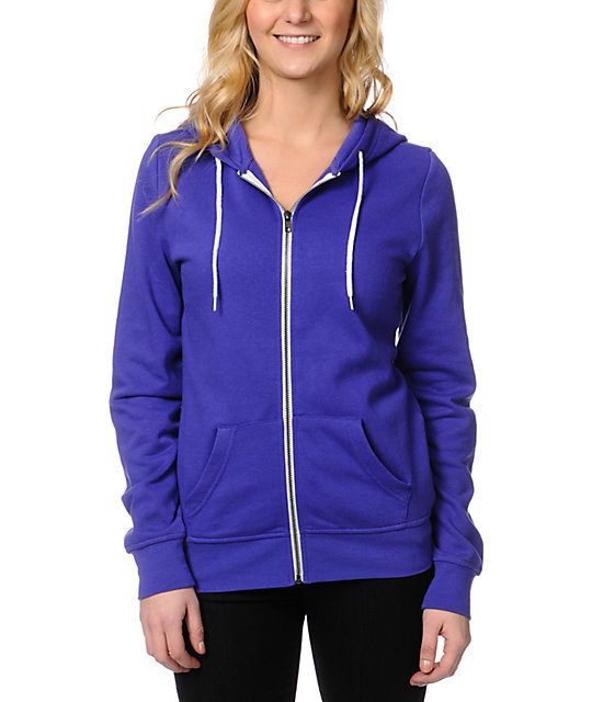 Zine Deep Purple Zip Up Hoodie at Zumiez : PDP