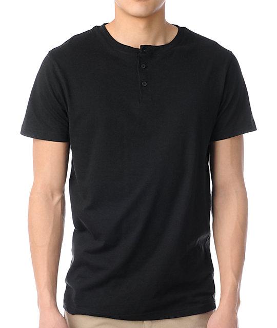 Zine Dibs Black Henley T-Shirt