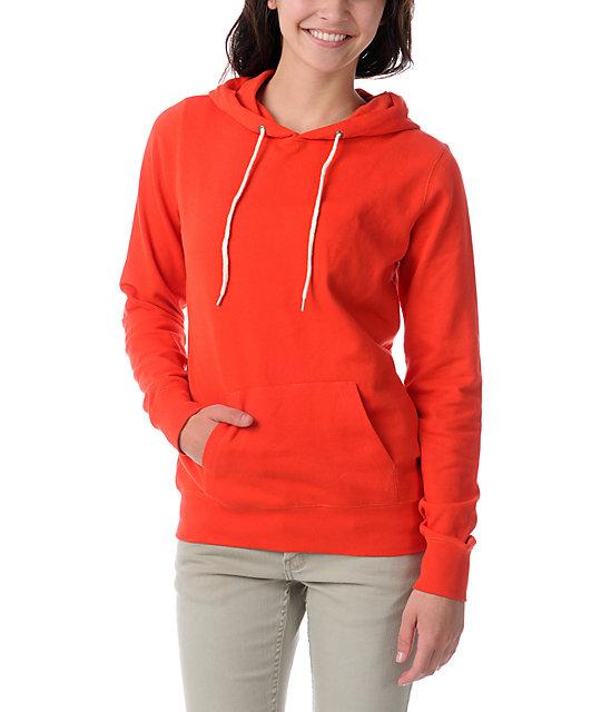 Zine Fiery Red Pullover Hoodie
