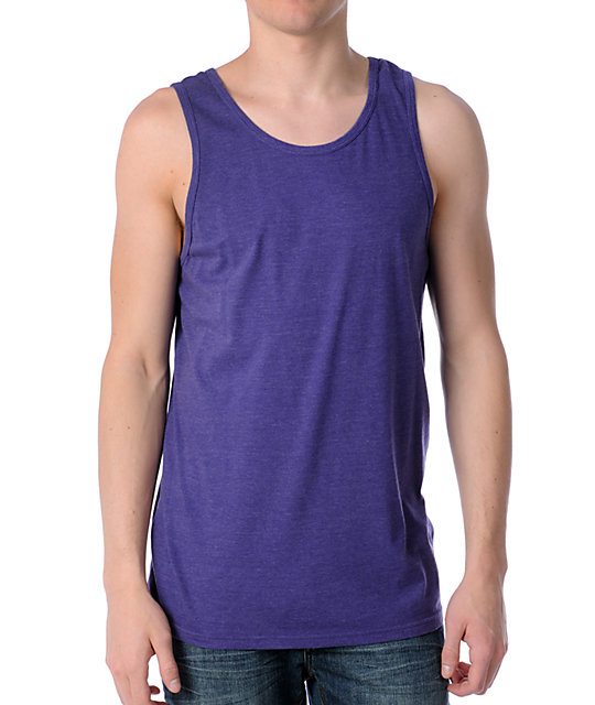 Zine Fixed Heather Grape Tank Top