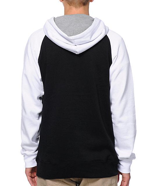 Zine Freshmix Black, Grey & White Pullover Hoodie   Zumiez